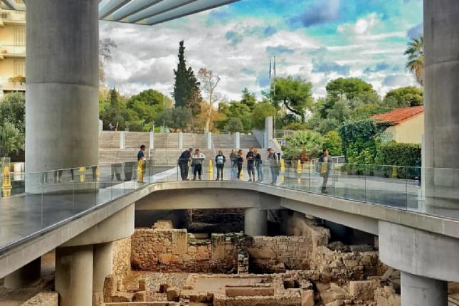 Acropolis museum floor