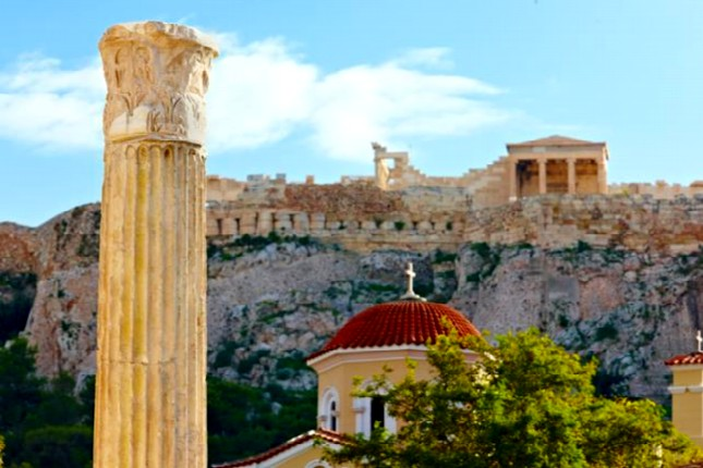 the acropolis Parthenon