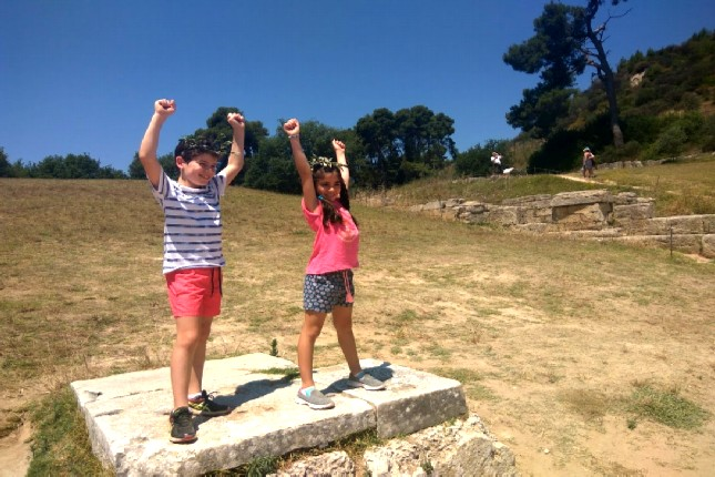 Ancient Olympia and kids