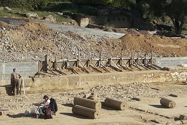 Ancient Olympia excavations