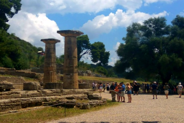 Archeological site in Ancient Olympia