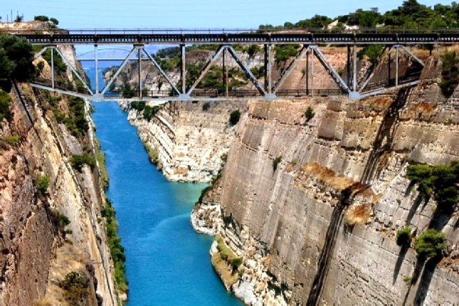 corinth canal photo stop