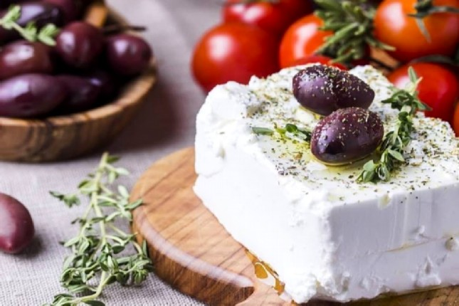 Feta, tomatoes and olives