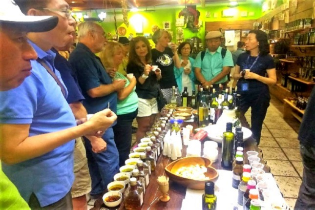 free olive oil tasting in Ancient Olympia