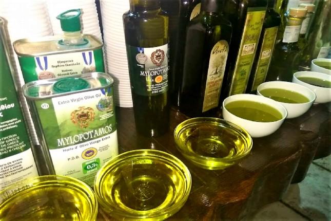 Olympia olive oil tasting