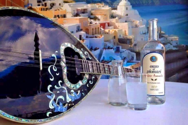 Ouzo on the Greek islands