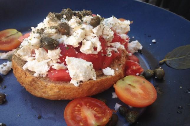 Santorini tomato dakos