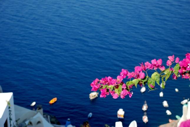 Santorini in spring