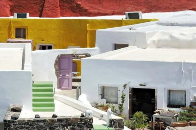 Santorini Island homes