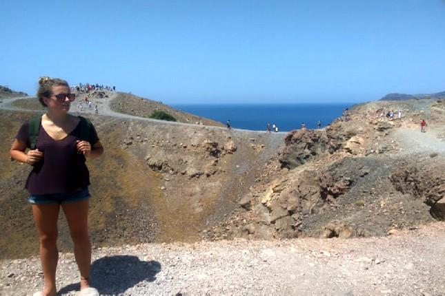 Santorini volcano tour