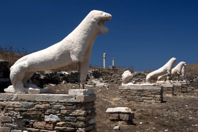 Terrace of the Lions Delos Greece
