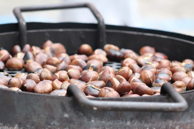 Traditional roasted chestnuts in Athens