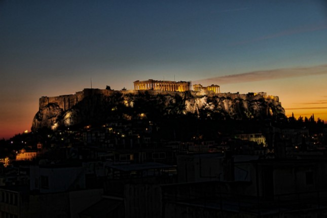 Athens sunset - the Acropolis site