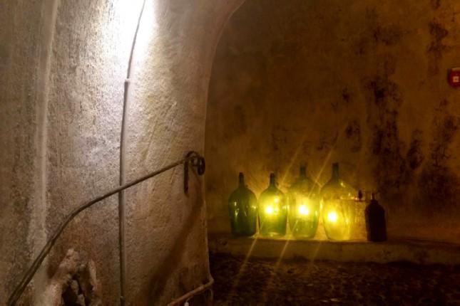 Santorini wine cellar