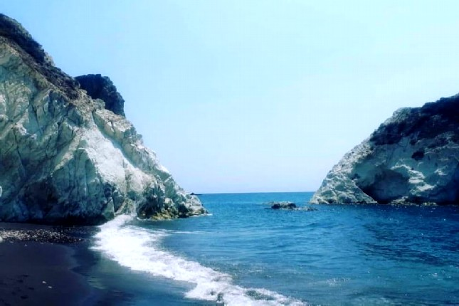 White Beach Santorini Island